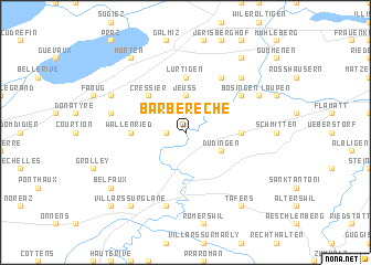 map of Barberêche