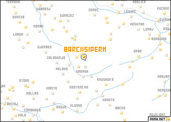 map of Barçi i Sipërm
