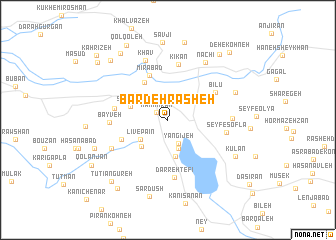 map of Bardeh Rasheh