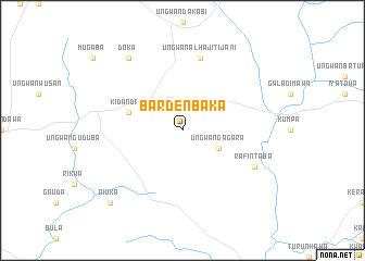 map of Barden Baka