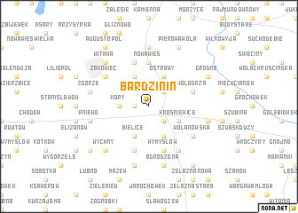 map of Bardzinin