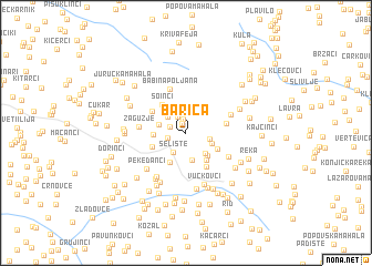 map of Barica