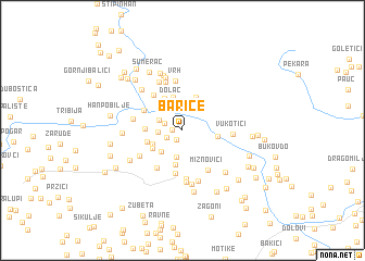 map of Barice