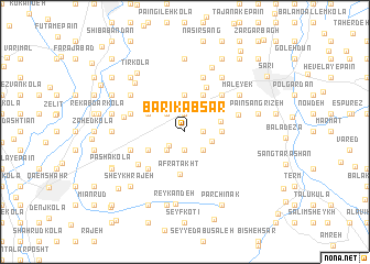 map of Bārīk Ābsar