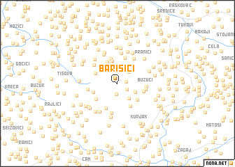 map of Barišići