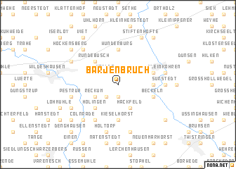 map of Barjenbruch