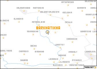 map of Barkhatikha