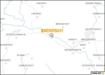 map of Barminskiy