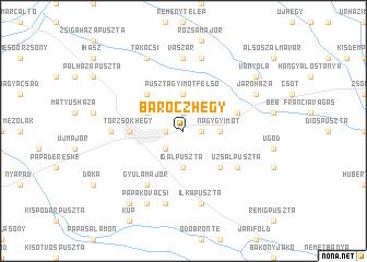 map of Báróczhegy