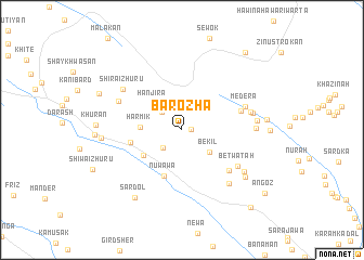 map of Barōzha