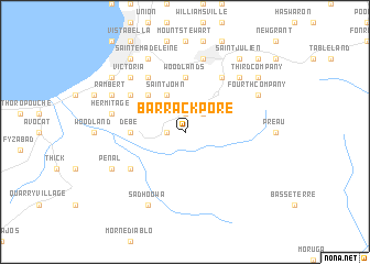 Barrackpore Trinidad and Tobago map nonanet