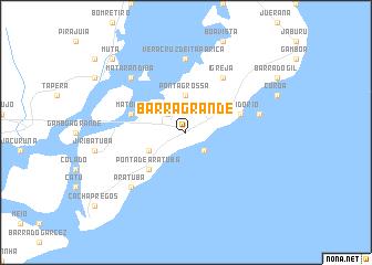 Barra Grande (Brazil) map - nona.net