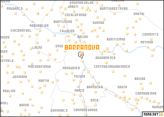 map of Barra Nova