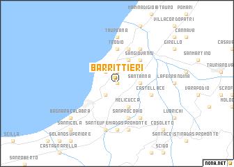 map of Barrittieri