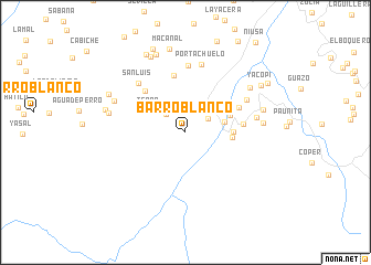 map of Barro Blanco
