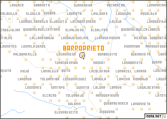 map of Barro Prieto