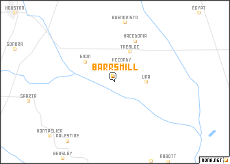 map of Barrs Mill