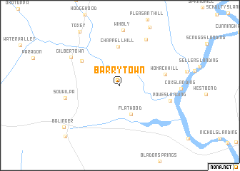 map of Barrytown