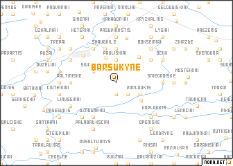 map of Barsukynė