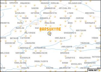 map of Barsukynė