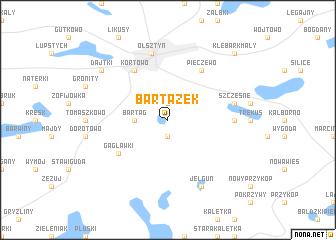 map of Bartążek