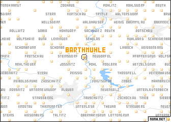 map of Barthmühle