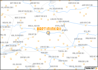 map of Bartininkai I