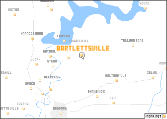 map of Bartlettsville