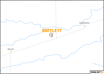 map of Bartlett
