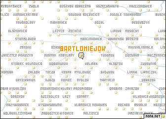 map of Bartłomiejów