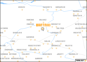 map of Bartniki