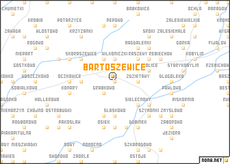 map of Bartoszewice