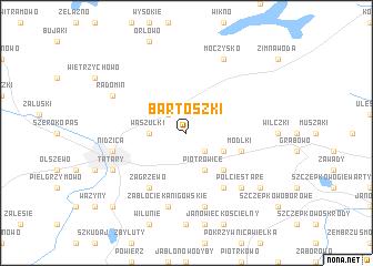 map of Bartoszki