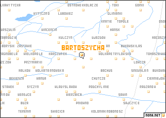 map of Bartoszycha
