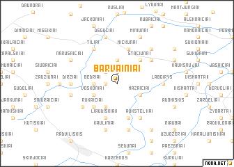 map of Barvainiai