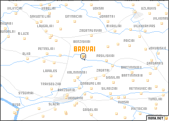 map of Barvai