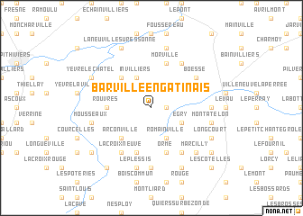 map of Barville-en-Gâtinais