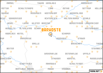 map of Barwöste