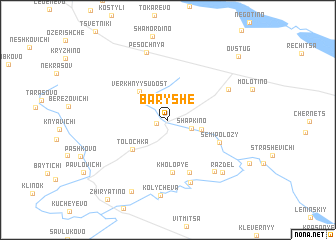 map of Baryshe