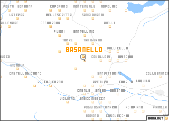 map of Basanello