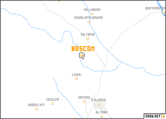 map of Bascom