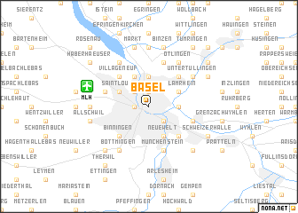 map of Basel