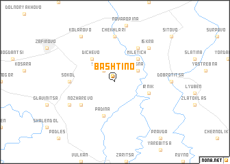 map of Bashtino