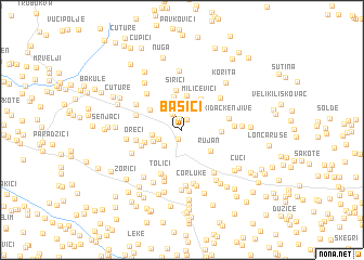 map of Bašići