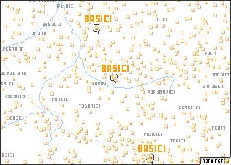 map of Bašići