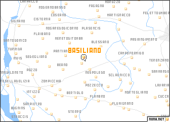 map of Basiliano