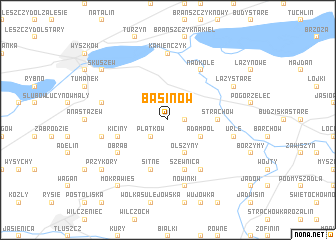 map of Basinów