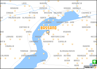 map of Bassano