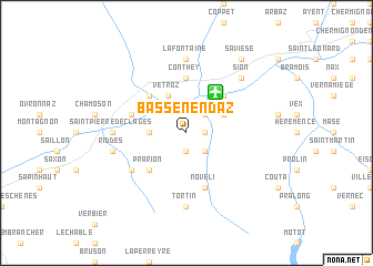 map of Basse-Nendaz