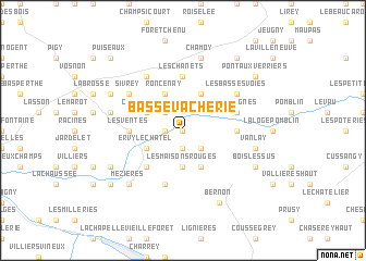 map of Basse Vacherie